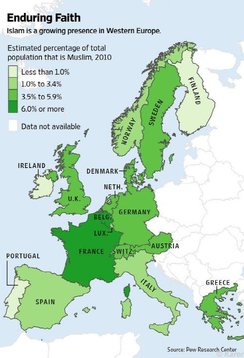 Muslim In Europe Map.Islam S Growth In Europe Sulekha Creative