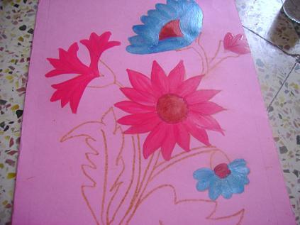 Greeting cards making sulekha creative for the sunflower design cardi used kundans for decoration m4hsunfo