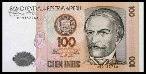 Peru currency 1987 one hundred intis sulekha creative peru currency 1987 altavistaventures Image collections