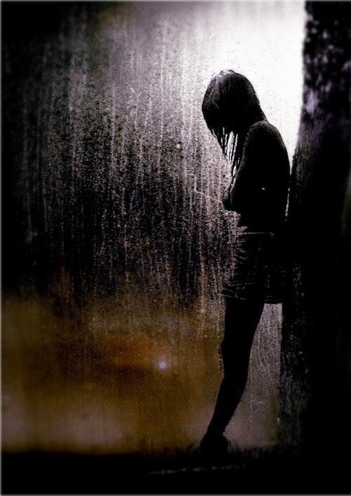 images of girl in rain